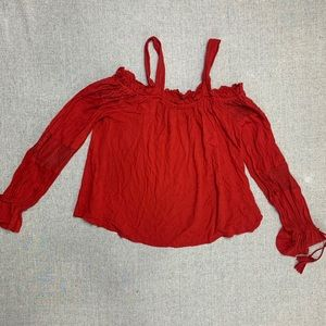 Bad of Gypsies red small cold shoulder top